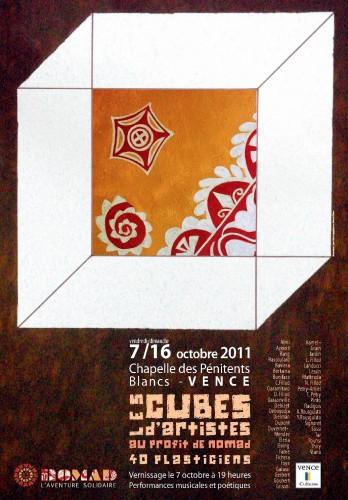 association nomad vence,cubes d'artistes