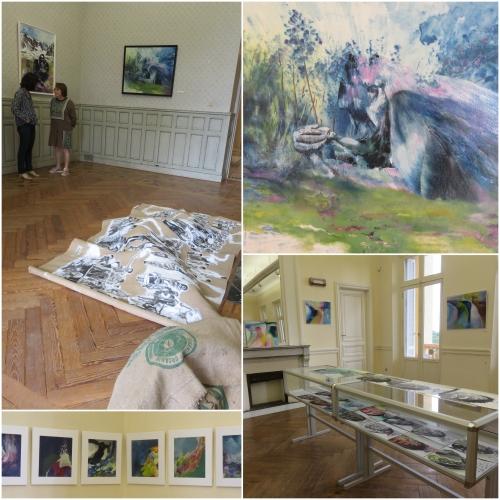Agnès Jennepin, Villa Aurélienne Fréjus, Expo pulsations d'ombre et de lumière
