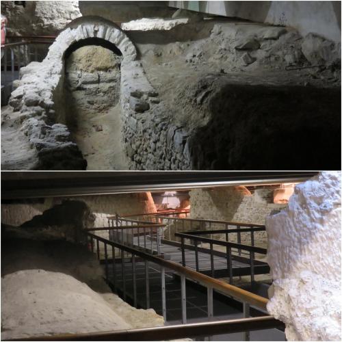 crypte, vieux nice, travaux du tramway