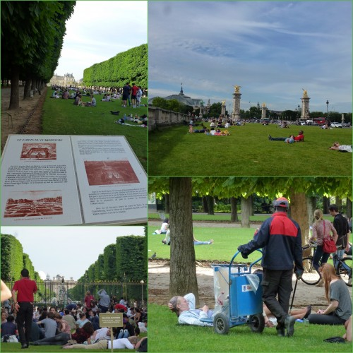 Paris, pelouses jardins Paris, jardins du Luxembourg