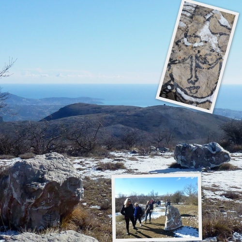 Col de Vence, Plateau St Barnabé, Village négre, Daniel Fillod, jardin de pierres