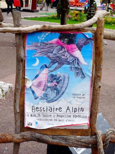 bestiaire alpin, théâtre de la toupine