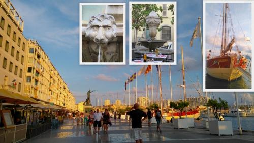 Bateau sculpture, toulon, fontaine aux dauphins,