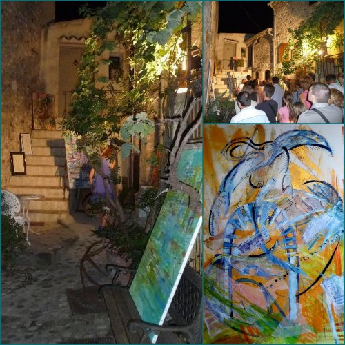 Haut de Cagnes, balade à la lanterne, Atelier Esty Grossman, Atelier Gen