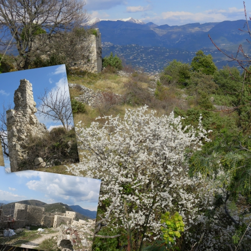 Mont Macaron, Ruines Châteauneuf Villevieille