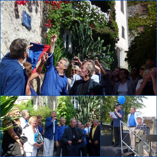 Yves Klein, Haut de Cagnes, hommage à Yves Klein, Klein d'Oeil, Klin d'Oeil