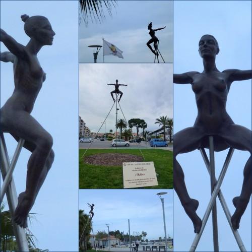Nicolas Lavarenne, Sculpture aérienne, Port du Cros de Cagnes, Bord de mer Cros de Cagnes