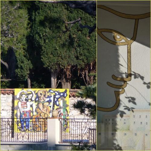 St Jean Cap Ferrat, Beaulieu sur mer, Promenade Maurice Rouvier, sculptures port de st jean cap ferrat, chapelle saint hospice
