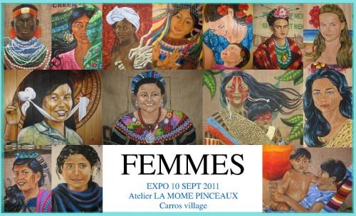 expo Femmes carros, la mome pinceaux, marilyn jardin, agnés birgul