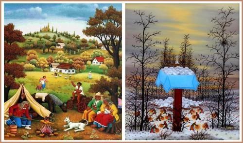 julie cristi vence,christine barral,art naïf yougoslave