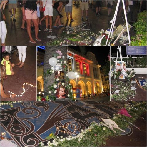 Hommage Nice, 14 juillet 2017, un an après