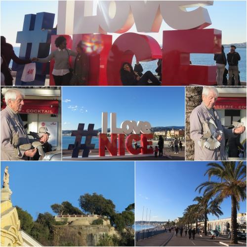 nice, quai des états-unis, I love Nice