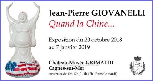 Chateau-musée Grimaldi, Quand la chine, Jean-Pierre Giovanelli