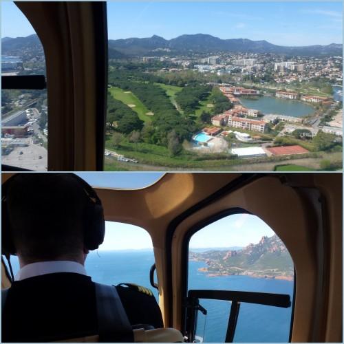 Vol en hélicoptère, baptême de l'air, saint tropez vu d'en haut