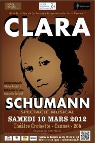 Spectacle Clara Schumann, Isabelle Servol