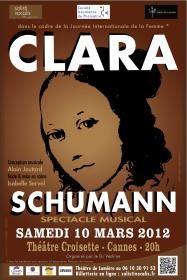 Spectacle Clara Schumann, Isabelle Servol