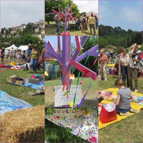les souffleurs d'avenir, 1er festival biot, gratiferia, peinture végétale
