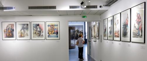 Espace Ferrero, dessins Jacques Séchaud, Arman et César aux manettes, Nice