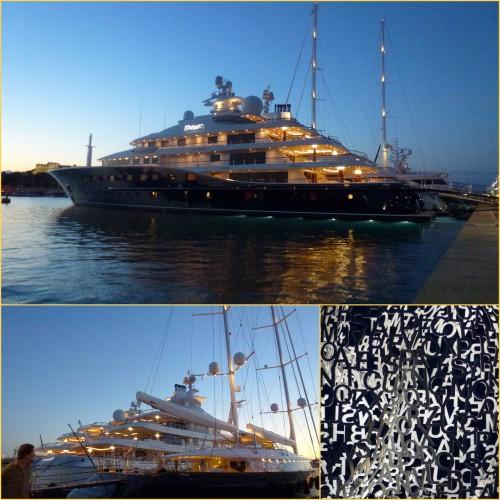 Antibes, le port d'Antibes, Jazz off Antibes, La grande nomade, Jaume Plensa, le quai des milliardaires, cie bal, le vertige des fleurs