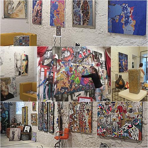 vallauris,rue clémenceau,galeries et ateliers d'artistes