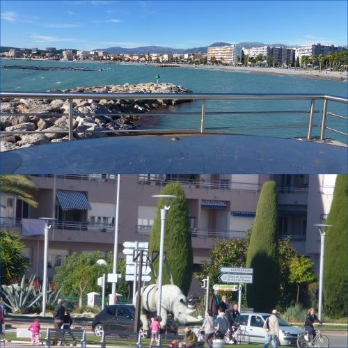 Cros de Cagnes, plage, oies sauvages, soleil d'automne