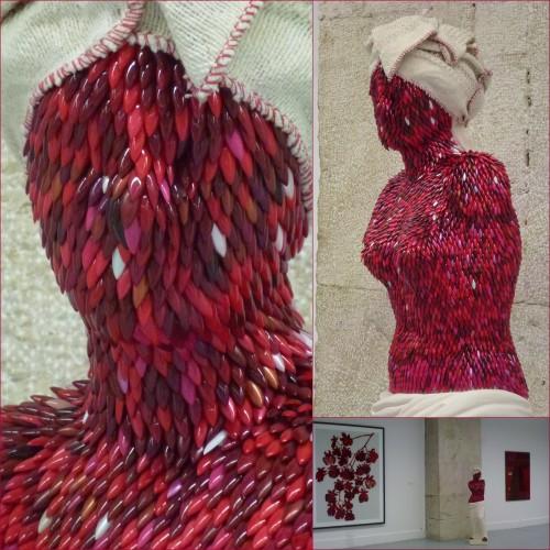 galerie  des ponchettes, nice, le rouge est mis, enrica borghi, lucio fontana