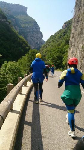 canyoning, gorges du loup, gourdon