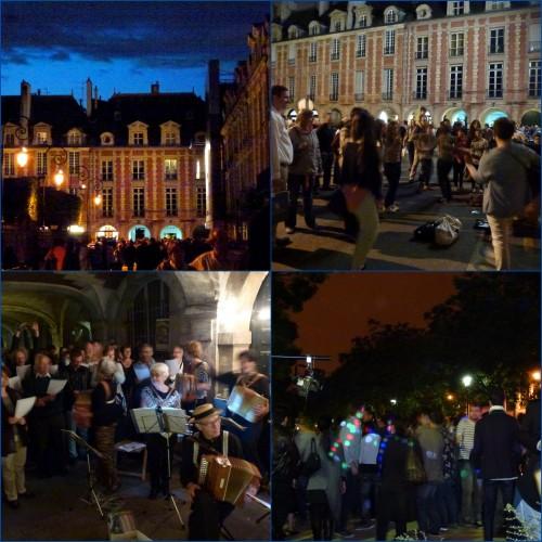 Paris, fête de la musique, place des vosges