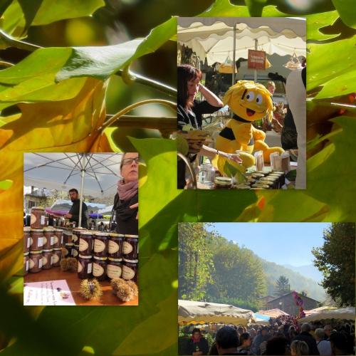 Roquebillière, dimanche d'automne, fête chataigne miel